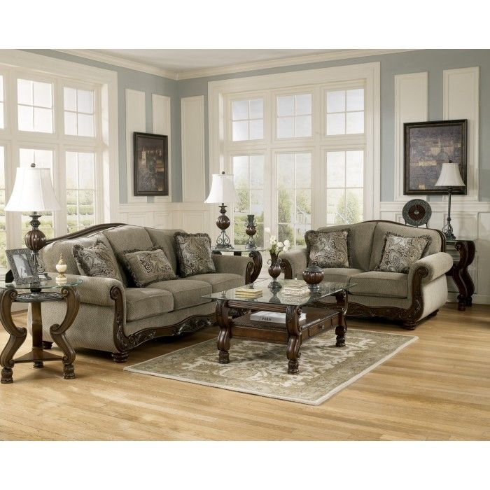 Martinsburg Meadow Collection Light Tone Fabric Upholstery Sofa And  Loveseat Set   Main Image Part 42