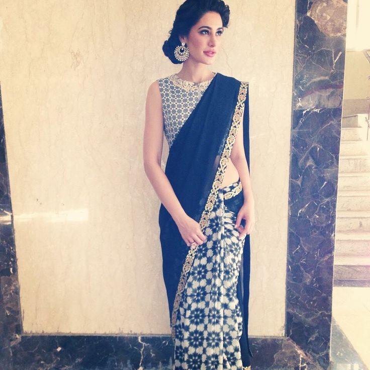 Nargis Fakhri in a lovely saree