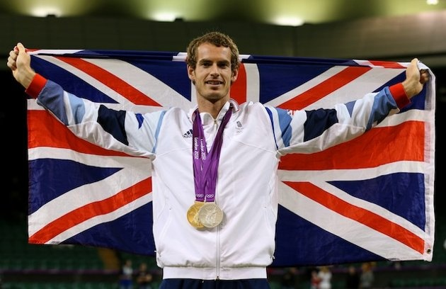 Scotsman Andy Murray beat Roger Fedderer in tennis for Gold Medal (Getty Images)  2012