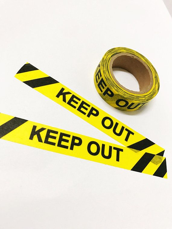 Keep Out Washi Tape Yellow And Black 15mm X 10m Duct Tape