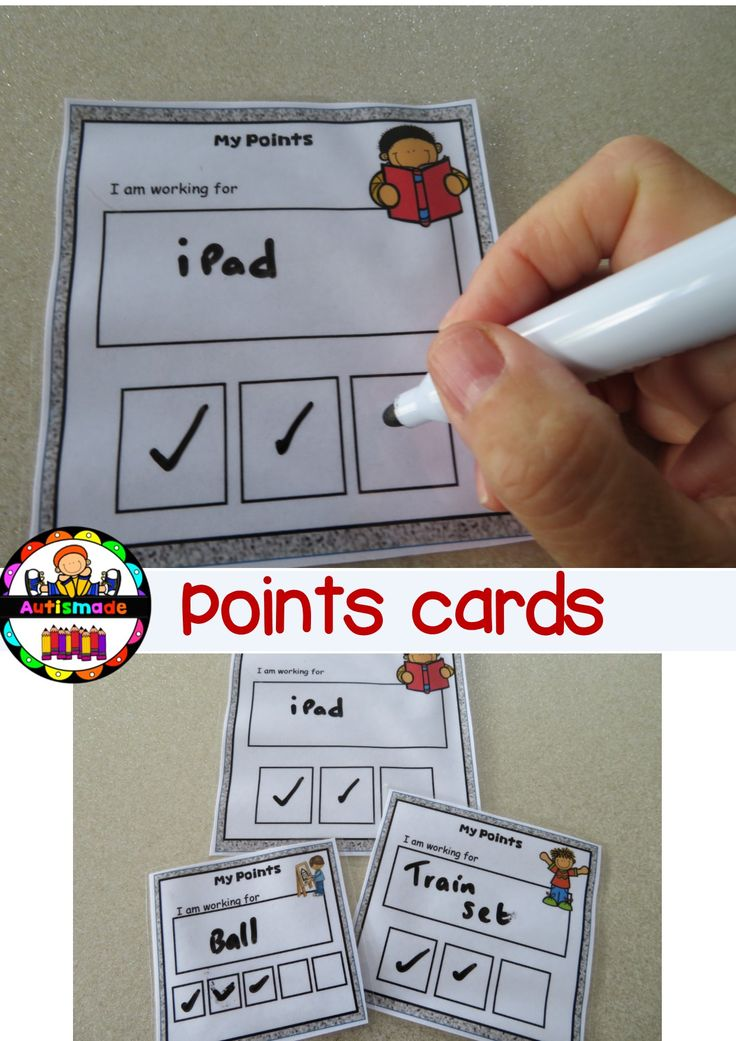 Point cards for your students to earn ticks for preferred behaviour.