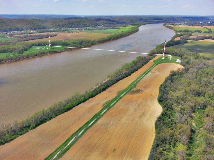 Tennessee Gas Pipeline spanning the Ohio River.  http://helicopterblog.com/?p=859
