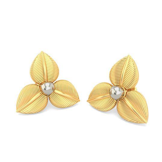 The Lambent Calypso Earrings | Earring In 18Kt Yellow Gold
