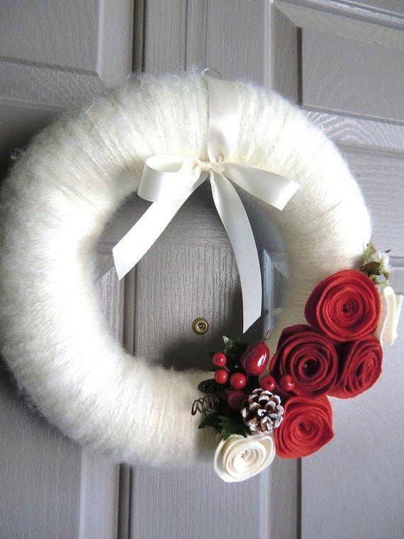 Corona de Navidad con fieltro sentir?  Por una vez nos sentimos como en http://www.bijviltenzo.nl: