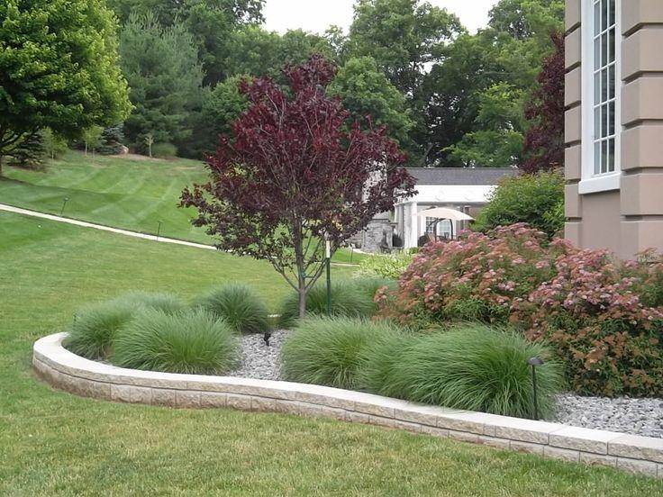 150 best residential landscape gallery images on pinterest for Ornamental grass edging
