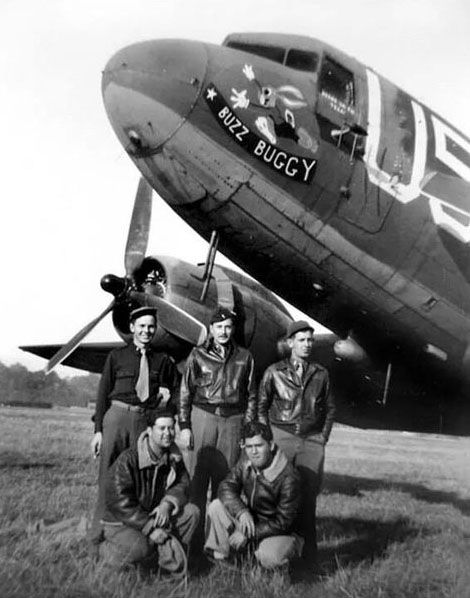 "C-47 ""Buzz Buggy"" Crew, 81st Troop Carier Squadron, 436th Troop Carier Group, England, June 1944"