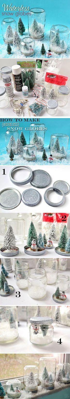 Oltre 25 idee originali per barattoli di vetro su - Decorazioni invernali fai da te ...