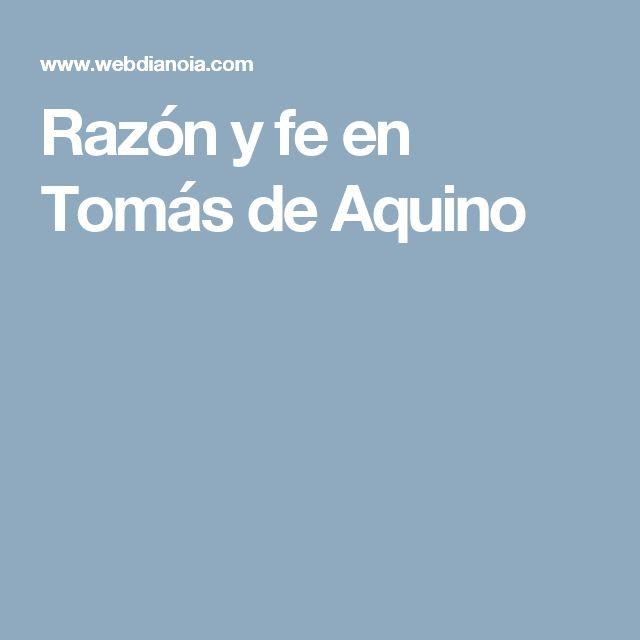 Razón y fe en Tomás de Aquino