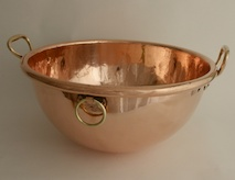 Unusual! Large Victorian Sugar Bowl dated 1870 with Two Fixed Bronze Handles