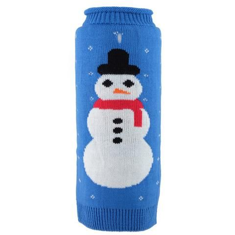 Clothing - Worthy Dog Frosty Roll Neck Dog Sweater - Blue