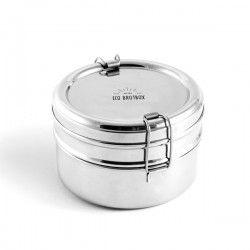 Eco Brotbox TIFFIN DOUBLE Lunchbox Edelstahl 2-teilig #ecobrotbox# tiffindouble #gingerundjune