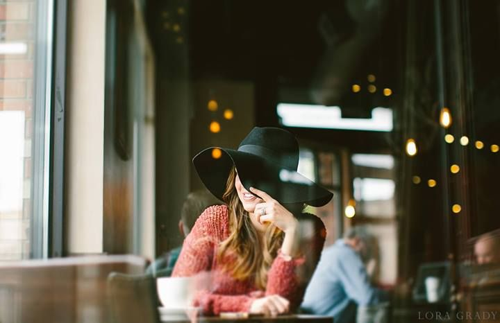 Lora Grady Photography // Girl in a coffee shop // love the perspective of this #photography #inspiration