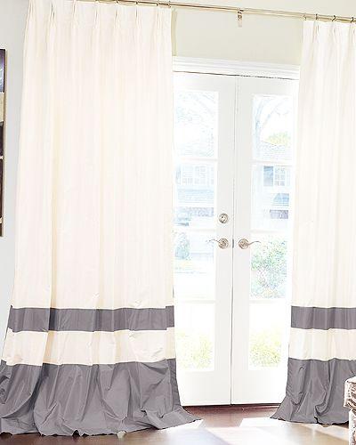 living room curtain idea...like the stripes...subtle pattern.