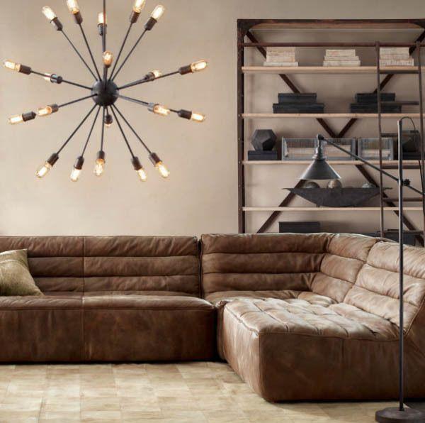 Restoration Hardware Челси кожаный диван