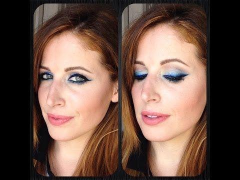 Makeup Tutorial Trucco Eyeliner BLU Ombre' - YouTube