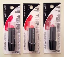 Lot Of 3 Wet N Wild Silk Finish Lipstick Brand New