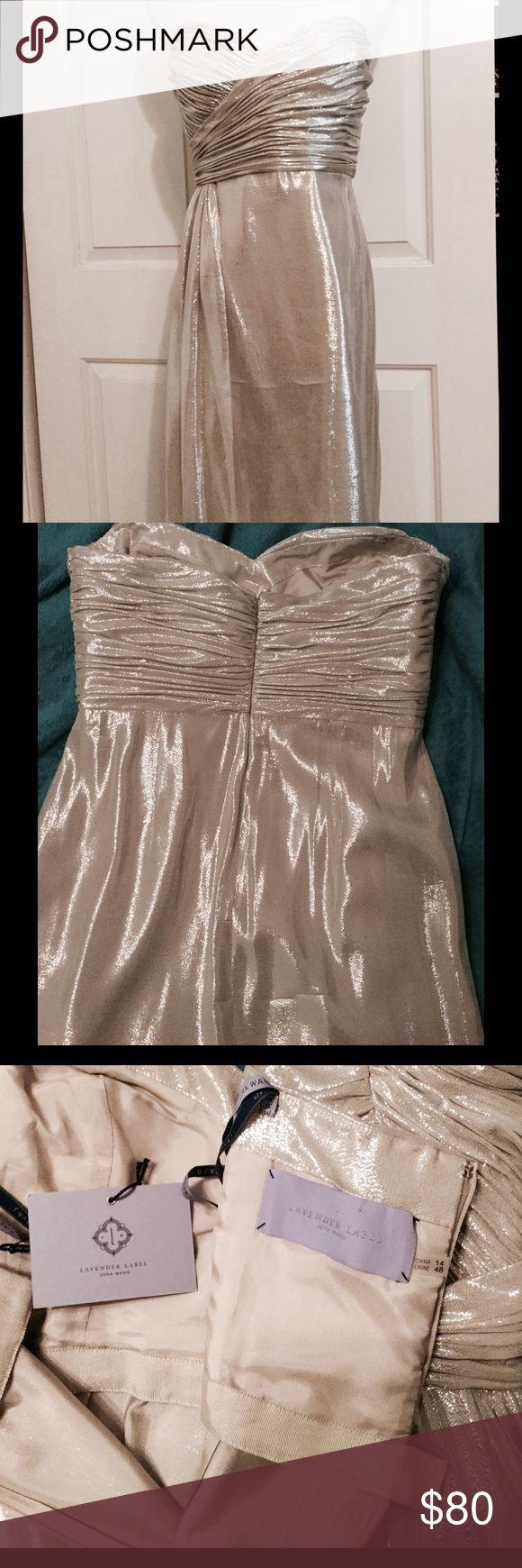Vera Wang Silver Strapless Dress Vera Wang Lavender Label strapless bustier-styl… – My Posh Picks