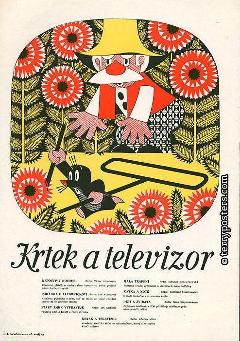 Poster Krtek a televizor (Terry posters)