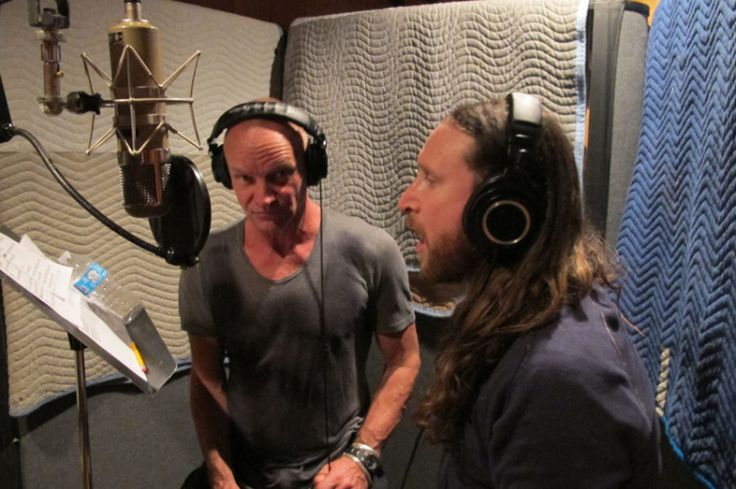 10.Jan. 19, NYC:  Sting & Mike Einziger in the vocal booth together