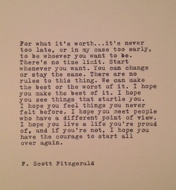 .F Scott Fitzgerald.... This man had such Amazing insight and a beautiful way with words