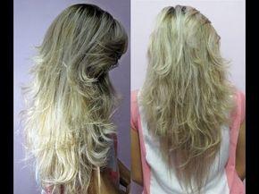 Como cortar o cabelo em casa em camadas - Atualizado - How to cut your o...