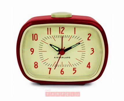 Horloge réveil Rétro rouge | acceuil