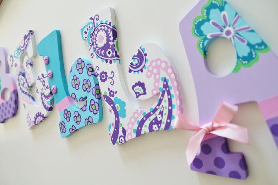 Lavender Purple Aqua and Pink Paisley Brooklyn by KraftinMommy