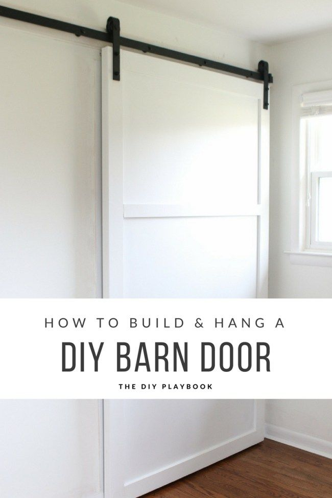 How to DIY and build a barn door from scratch. Check out this step-by-step tutorial to build your own barn door for a closet in your home. A budget-friendly and simple DIY project to upgrade your house.
