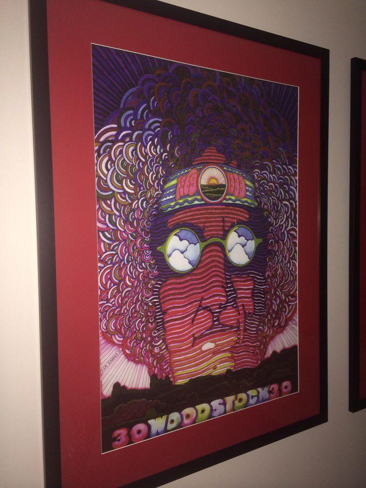 "Jan Sawka 1998, 30th year anniversary of Woodstock, 1969-1999 ""Woodstock Generation"" triptych"