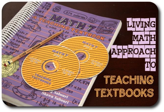 Teaching Textbooks and Living Math via @jimmiescollage