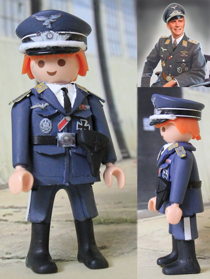 Custom Playmobil Oficial Alemán Luftwaffe WWII / German Luftwaffe Officer WWII