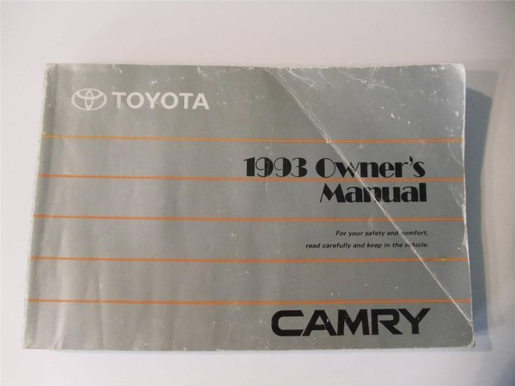 1995 toyota camry owners manual book guide owners manuals pinterest fandeluxe Choice Image