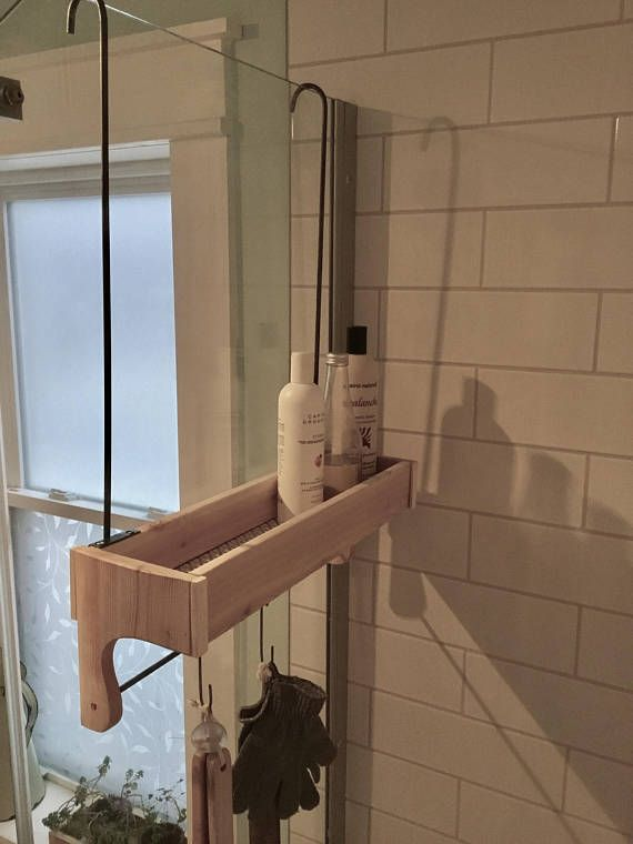 Wood, rustic shower caddy for inside the shower. #affiliate