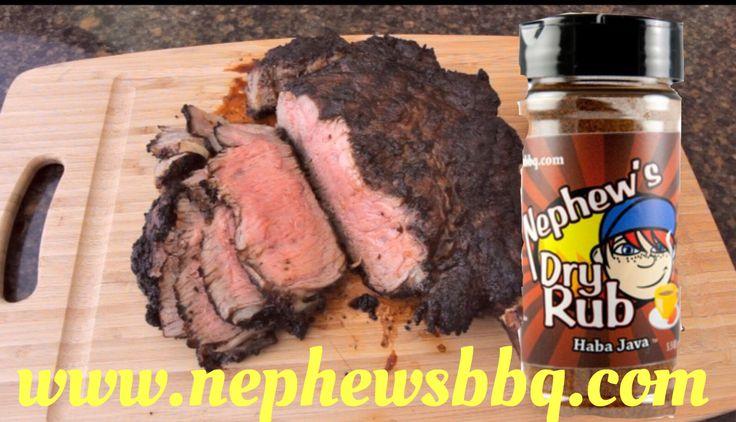 Haba Java crusted CowBoy Steak www.nephewsbbq.com