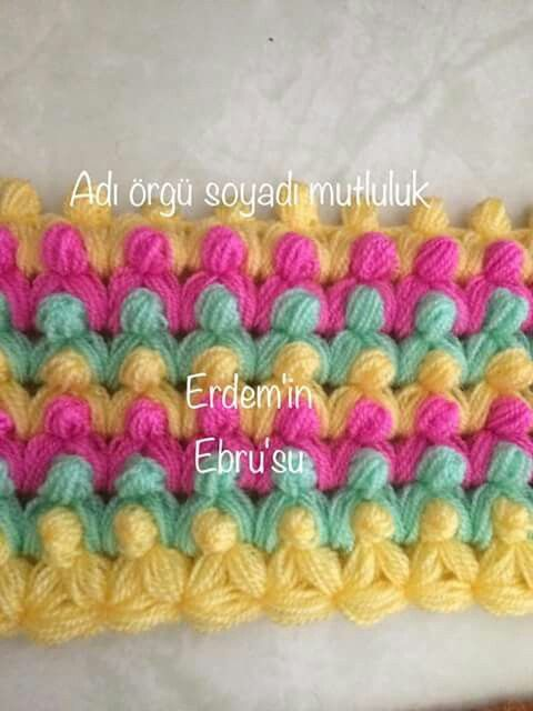 "You can learn how to knit ""tomurcuk lif"" pattern. It is really nice i like it."