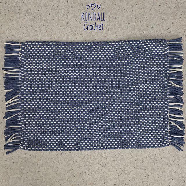 #kendallcrochet #crochet #knitting #crochetrug #crochetbasket #tshirtyarn #weaving #ragrug #retro