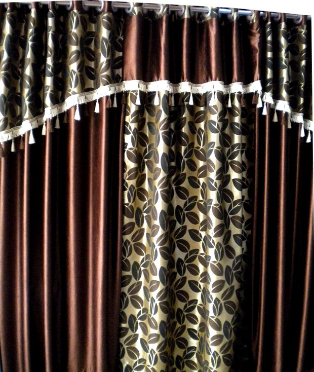 Brown Eyelet Curtain only $17