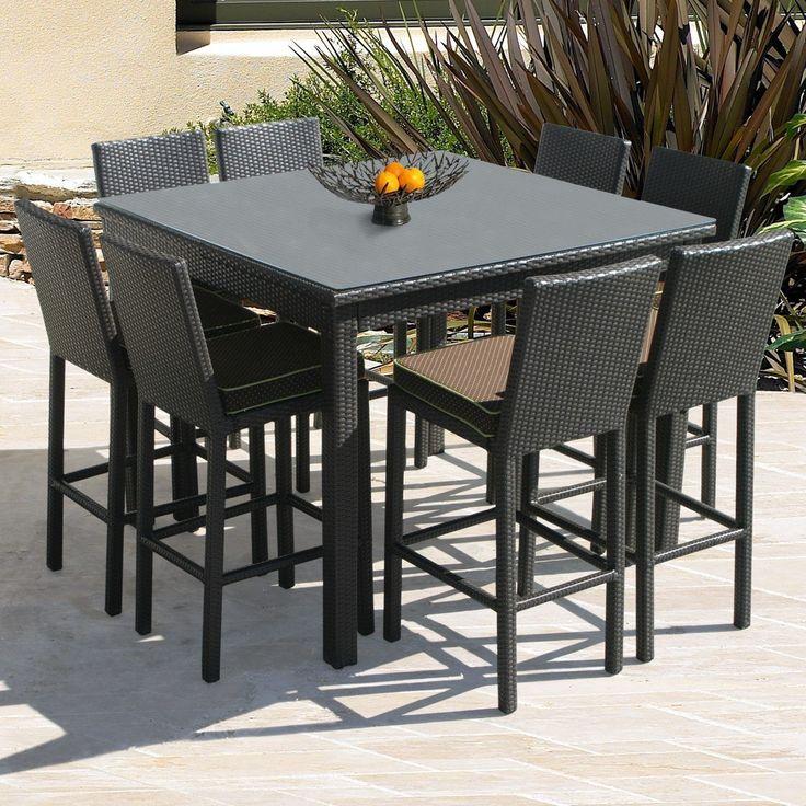 Patio Furniture Bar Height Dining Set