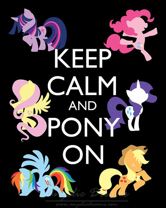 Pony On - An artistic rendition presented in a high quality 8 X 10 print. My Little Pony, Friendship is Magic.