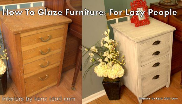 furniture without sanding glazing furniture refinished furniture. Black Bedroom Furniture Sets. Home Design Ideas