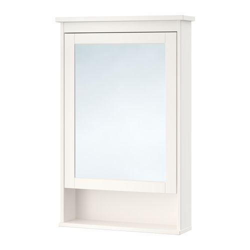 HEMNES Mirror cabinet with 1 door - white - IKEA