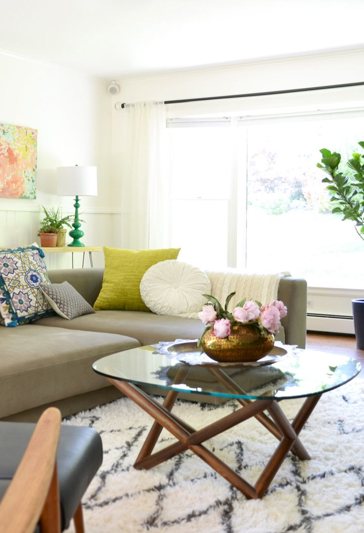 Souk Rug + Spindle Coffee Table from west elm