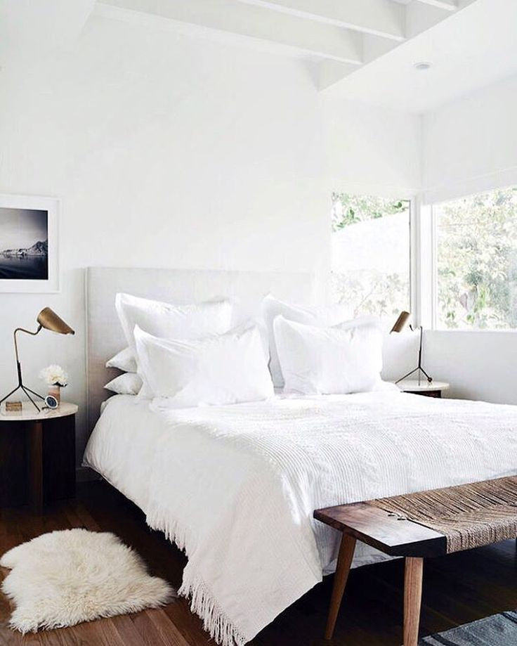 173 best white bedrooms images on Pinterest