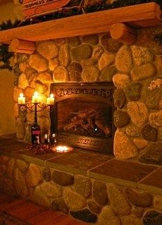 river+rock+fireplace | River stone, or river rock, as it is commonly called, is the result of