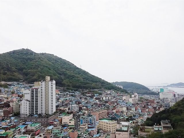 Mountain, Buildings, and sea in one frame  #Gamcheon #Busan #Southkorea