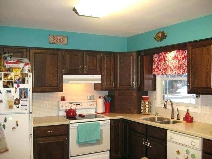 Kitchen Ideas Turquoise Red Dark Green Cabinets