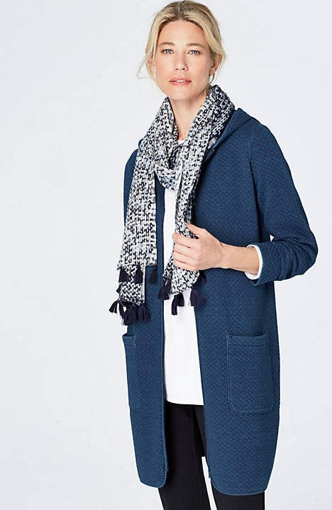 7e695deeba Image for Pure Jill Indigo Long Quilted Jacket … | Things to Wear in ...
