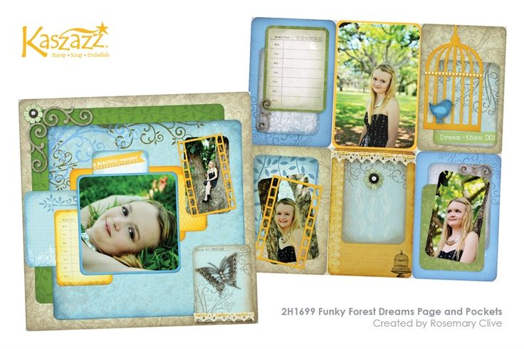 2H1699 Funky Forest Dreams Page and Pockets Teaching this on Wed 4/11/2015 & Tues 24/11/2015