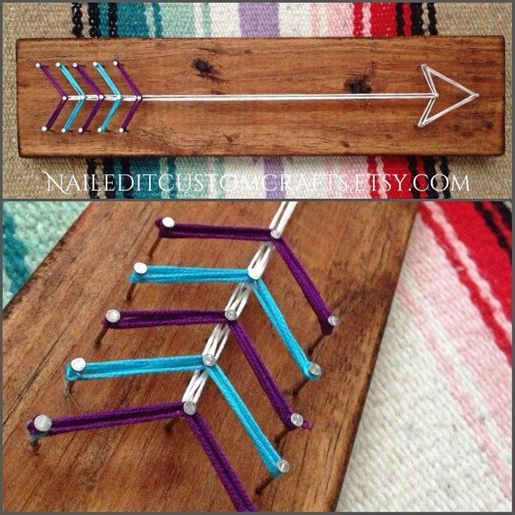 Arrow boho decor dorm decor teen room by NailedItCustomCrafts