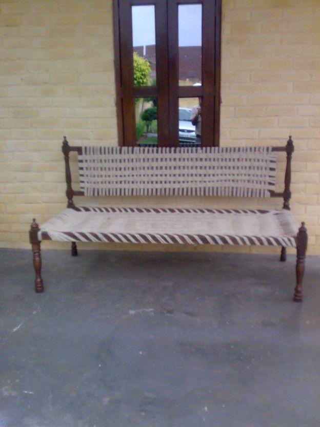 Wooden jute woven Sofa